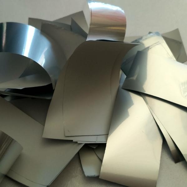 Конфеті срібло глянц+біле мат
