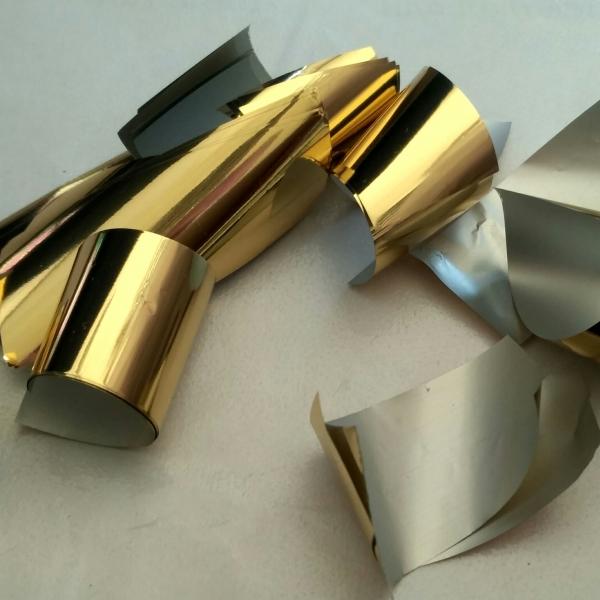 Конфеті золото глянц+срібло мат